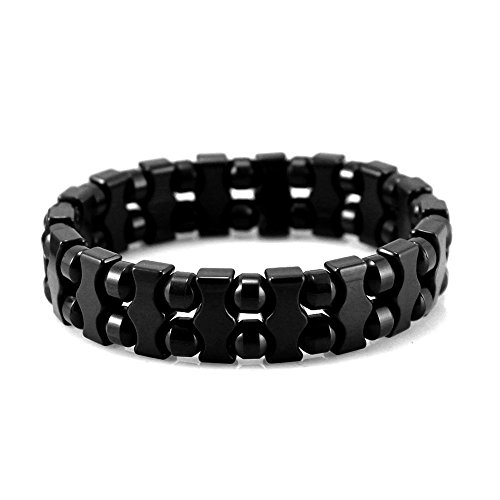 Power Negative Ions Tourmaline Bead Stretch Bracelet Unisex(Imported,Generate UP to 1094 Negative ions!)