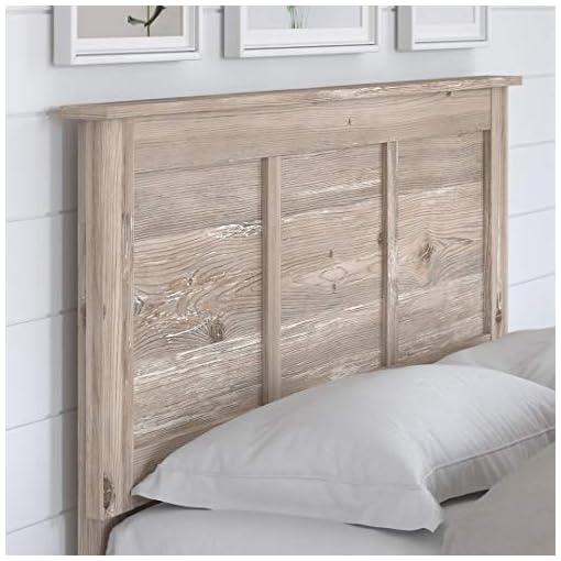 Bedroom Bush Furniture Kathy Ireland Home River Brook Full/Queen Size Headboard farmhouse headboards