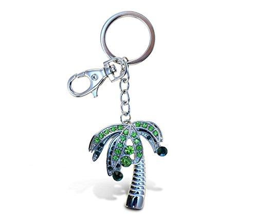 (Puzzled Palm Tree Sparkling Charm Keychain)