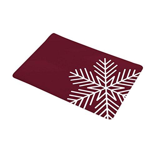 Price comparison product image Sunsee Christmas Home Non Slip Door Floor Mats Hall Rugs Kitchen Bathroom Carpet Decor (F)