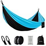 OlarHike Single Camping Hammock, Lightweight Portable Nylon Swing Hammocks with Tree Straps, 500lbs...