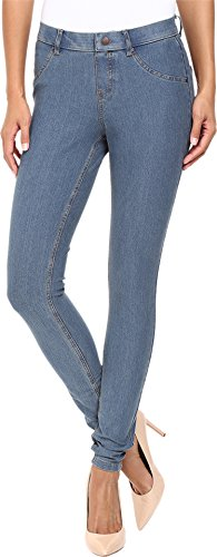 Leggings Stretch Denim (HUE Women's Essential Denim Leggings, Stone Acid Wash, X-Large)