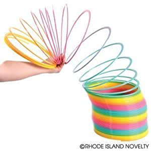 """Giant Toy Jumbo Spring - 9.5"""" Inches Across Jumbo Coil Rainbow - Birthday Gifts, Kids Toys, Novelty Items, Fun Gifts"""
