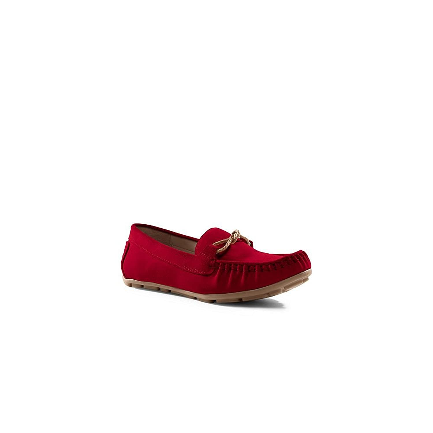 Lands' End Canvas Women's Driving Moccasins, 10, Chili Red