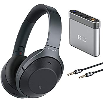 Sony WH1000XM2 Noise Cancelling Headphones with FiiO A1 Silver Portable Amp