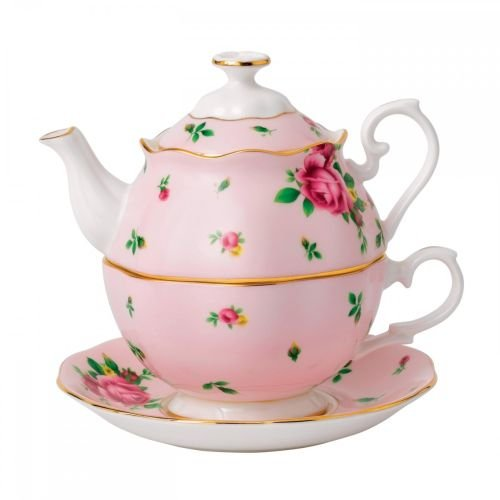 Royal Albert New Country Roses Tea Party Pink Tea for One, Pink (Royal Albert Rose Confetti Teapot)