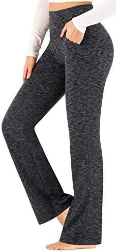 Ewedoos Bootcut Yoga Pants for Women High Waisted Yoga Pants with Pockets for Women Bootleg Work Pants Workout Pants
