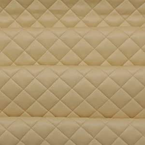 Cream Soft Matte Finish Quality Vinyl Faux Leather Camper Van Upholstery Fabric