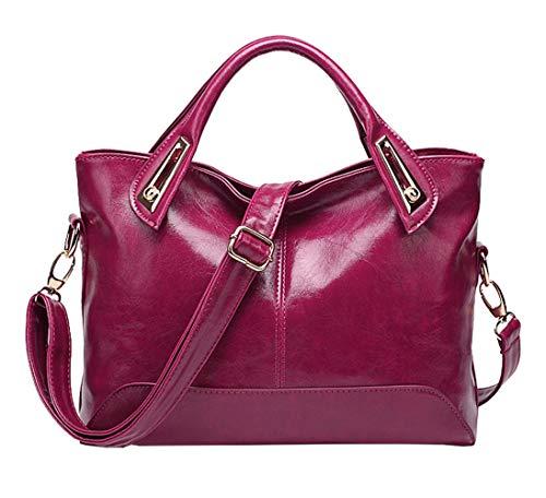 Carteras mano bolsos clutches bandolera de Shoppers hombro DEERWORD de Mujer y Bolsos y Púrpura AvSw8q