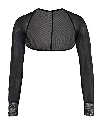 Nyteez Womens Black Fine Sheer Mesh Shrug Bolero (Xlarge)
