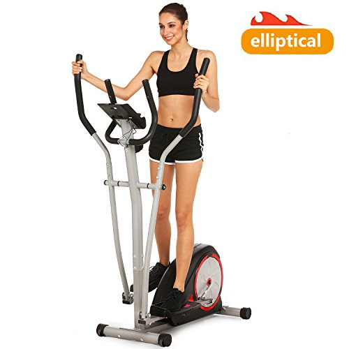Elliptical Trainer Machines Magnetic Elliptical Workout Machine for Home Use (US Stock) (Black)
