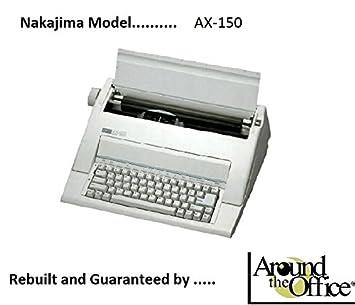 Nakajima máquina de escribir modelo AX-150 reconstruido por alrededor de la oficina: Amazon.es: Electrónica