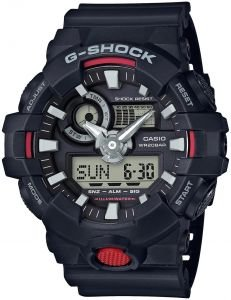 Casio 2018 GA700-1ACR Watch -Digi Super LED 3D Black/Red