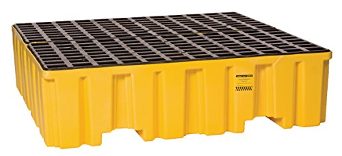 Eagle-1640ND-Yellow-4-Drum-Containment-Pallet-without-Drain