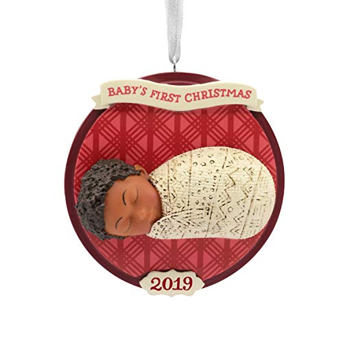 Hallmark Christmas Ornaments 2019 Year Dated, Hallmark Mahogany Baby's First Christmas Ornament ()