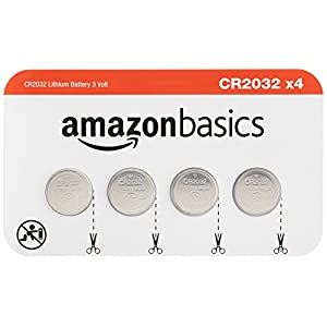 AmazonBasics CR2032 3 Volt Lithium Coin Cell Battery – Pack of 4