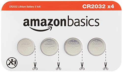 (AmazonBasics CR2032 3 Volt Lithium Coin Cell Battery - Pack of 4)