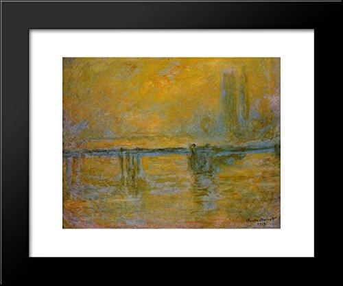 Charing Cross Bridge 20x24 Framed Art Print by Monet, Claude