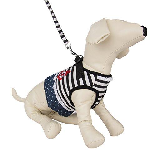 Free Skirt Patterns (CueCue Pet Choke Free Harness with Leash, Sailor Stripe,)