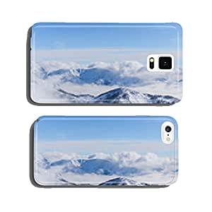 View on mountains and blue sky above clouds cell phone cover case Samsung S6