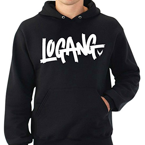 Logang Logan Paul Maverick Adult Hoodies (Small, Black) (Adult Hoody)