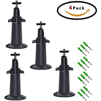 FIZZE Mount For Netgear Arlo Camera - 4 Pack Aluminum Never Rust Security Camera Wall Mount Adjustable Indoor Outdoor Mount for Arlo Pro or CCTV or DVR Have Same Interface - Black Color
