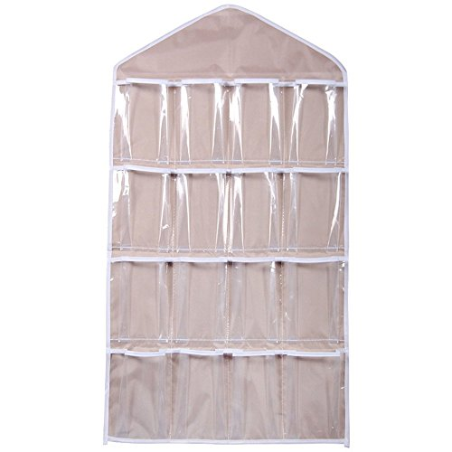Medifier2 Pack Hanging Closet Organizers with 16 Transpar...