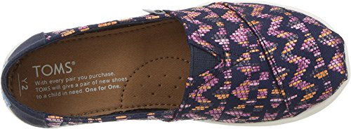 TOMS Youth Alpargata Novelty Textile Espadrille, Size: 5.5 M US Big Kid, Color Fuchsia Colorful - Image 1