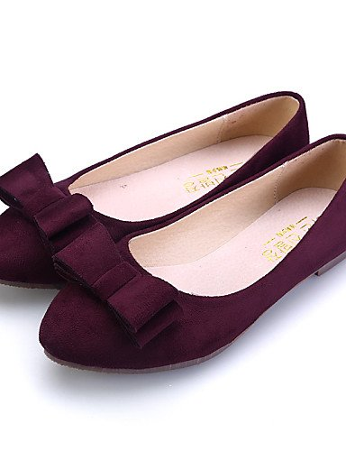 PDX/ Damenschuhe - Ballerinas - Kleid / Lässig - Wildleder - Flacher Absatz - Komfort / Spitzschuh / Geschlossene Zehe -Schwarz / Blau / Rosa pink-us7.5 / eu38 / uk5.5 / cn38