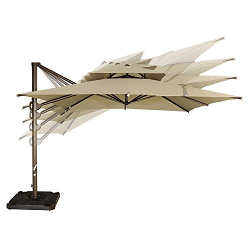 Umbrella Stand Wind: Abba Patio 9 By 9-Feet Square Offset Cantilever Umbrella