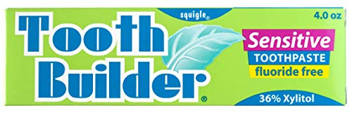 Sensitive Teeth - Squigle Tooth Builder SLS Free Toothpaste (Helps Stop Tooth Sensitivity and Helps Prevent Canker Sores, Perioral Dermatitis, Bad Breath, Chapped Lips)