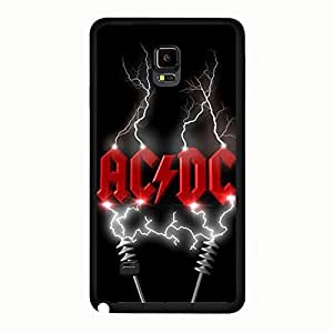 Red Newest Lightning AC/DC Phone Case Cover For Samsung Galaxy Note 4