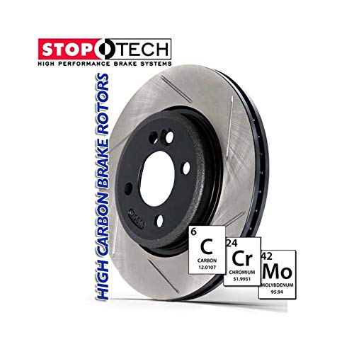 Left StopTech 126.61118SL Sport Slotted Rotor