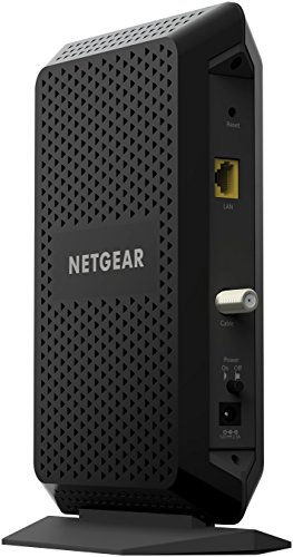 NETGEAR DOCSIS 3.1 Gigabit Cable Modem. Max download speeds of 6.0 Gbps, For XFINITY by Comcast, Spectrum, and Cox… 4 Support all cable internet speed tiers, up to Gigabit (1000 Mbps) service. Separate router required for WiFi. DOCSIS 3.1 up to 10X faster download speeds than DOCSIS 3.0. DOCSIS 3.1 is OFDM 2x2+ DOCSIS 3.0 32x8 channel bonding ELIMINATE MONTHLY CABLE MODEM RENTAL FEES - Up to $120 per year;32 downstream and 8 upstream channels for DOCSIS 3.0 connection