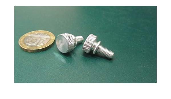 Flared-Collar Knurled-Head Thumb Screw 6061 Aluminum Thread Size 1//4-20