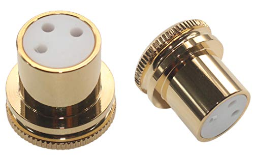 KK Product M2-1 XLR female Noise Reducing Caps, Gold Plated Copper, M2-1 (2pcs)