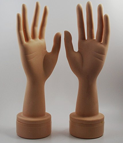 CHENGYIDA 1 Pair (Left and Right) Free Standing Lifesize Female Mannequin Hand Jewelry Display (Finger arbitrarily bent) by CHENGYIDA