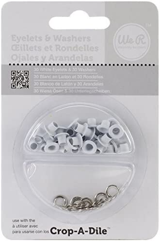 We R Memory Keepers Eyelet and Washer 70 Pieces White