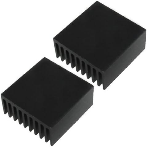 NA Aluminum heatsink Cooling fins 25 x 25 x 12 mm 2 Pieces Black