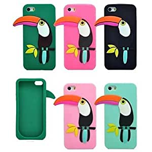 DD The New Fashion Woodpecker Silicone Soft Cover for iPhone 5/5S(Assorted Colors) , Rose