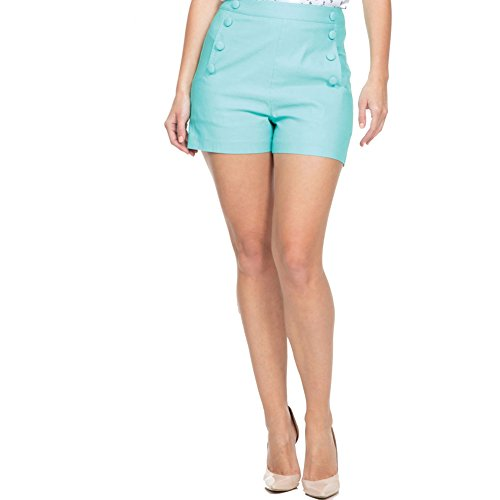 Womens-Voodoo-Vixen-EVIE-High-Waist-Shorts-Green