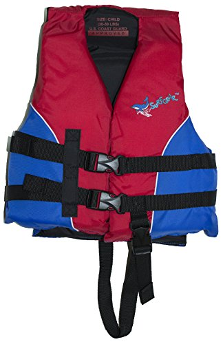 SurfGear US Coast Guard Approved Child's Life Vest (30-50 lb) (Red)
