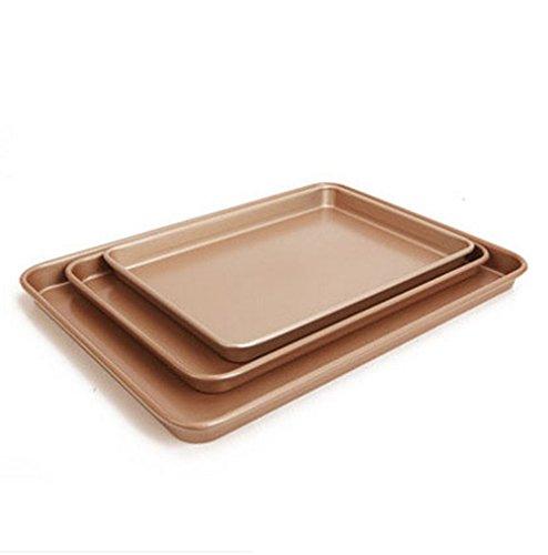 BESICA Sqaure Baking Pans for Biscuit/ Brownie/ Lasagna Roasting Cake Pan (13/15/17 inch)