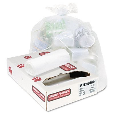 Commercial Can Liner 55-Gallon, 13 Micron in Clear