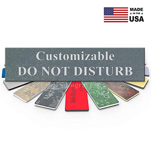 able Please Do Not Disturb Sign Name Plate for Office, Cubicle Privacy, Recording, Therapists, Textured Steel Plastic & Silver Letters | USA Made 2x8 - M5 ()