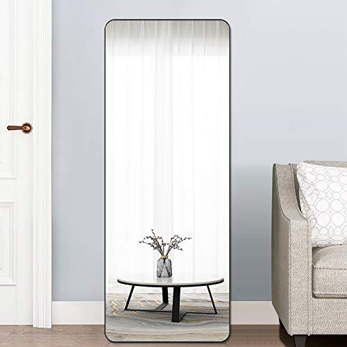 PexFix Rectangular Full Length Mirror Bedroom Floor Mirror Standing or Leaning, 65