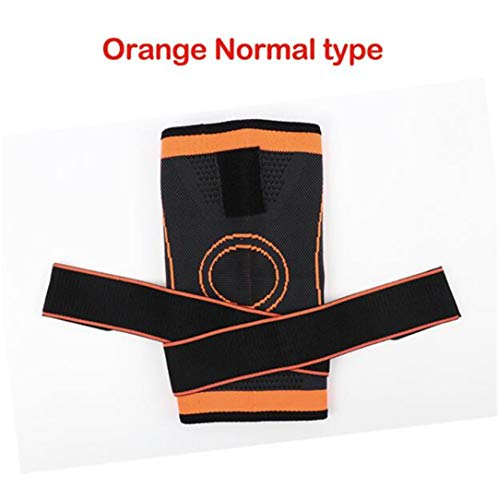 1Pc Knee Brace Support Pressurized Straps Breathable Bandage Basketball Kneeling Sports Knee Pads Brace Patella Guards Knees 5XL normal2 XL