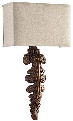 - Cyan Design Wall Sconce Soren 1-Light Limed Gracewood White Lining Gold