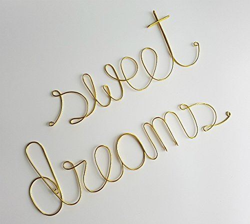 SWEET DREAMS Nursery Room Decoration Sign in GOLD Finish