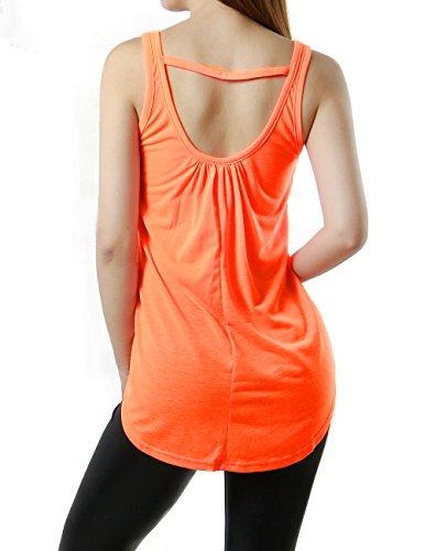 """Active Ladies """"New"""" City Graphic Neon Orange Womens Tank Top (MEDIUM, ORANGE)"""